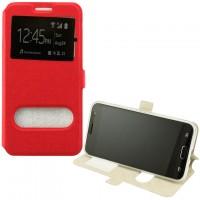 Чехол-книжка Modern 2 окна LG X Power K220, K210 красный