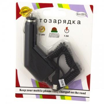 Автомобильное зарядное устройство AWM 1.5A micro-USB блистер в Одессе