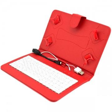 Чехол-клавиатура 7 дюймов USB + OTG Micro USB красный в Одессе