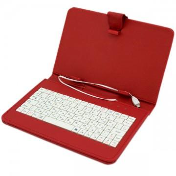 Чехол-клавиатура 7 дюймов Micro USB красный в Одессе