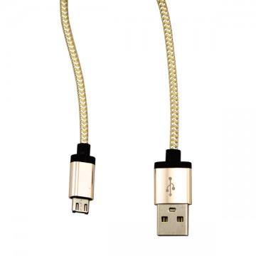 USB - Micro USB кабель UCA-424 металл-ткань 1m серебристый в Одессе