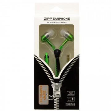 Наушники с микрофоном змейка Zipper New green в Одессе