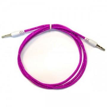 AUX кабель 3.5 M/M тканевый 1 метр фиолетовый в Одессе