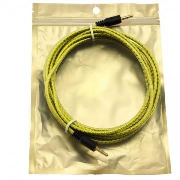 AUX кабель 3.5 M/M тканевый с силиконовым покрытием 3 метра желтый в Одессе