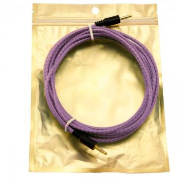 AUX кабель 3.5 M/M тканевый с силиконовым покрытием 3 метра фиолетовый в Одессе