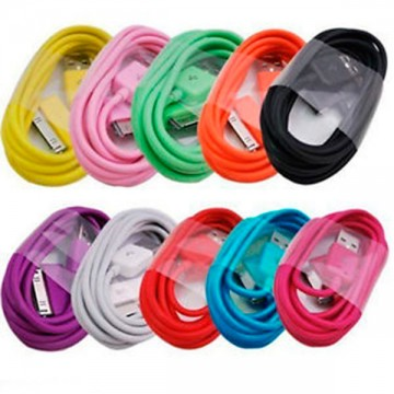 USB - Apple 30pin шнур для iPhone 4S mix color в коробке в Одессе