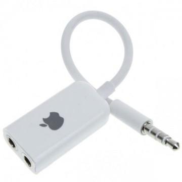 Разветвитель для наушников 3.5 M-3.5 2F Apple белый в Одессе