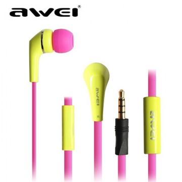 Наушники с микрофоном AWEI ES-Q7i желтые в Одессе