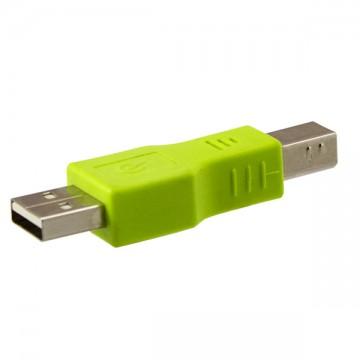 Переходник USB штекер - USB Type B штекер для принтера салатовый в Одессе