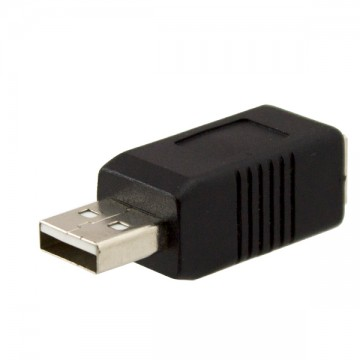 Переходник USB штекер - USB Type B гнездо для принтера черный в Одессе