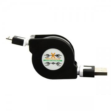 USB-Micro USB шнур рулетка 1m черный в Одессе