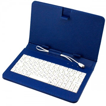 Чехол-клавиатура 7 дюймов Micro USB синий в Одессе