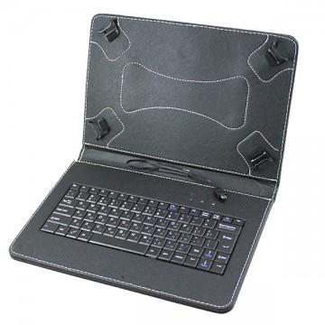 Чехол-клавиатура 10 дюймов уголки-магнит Micro USB + OTG черный в Одессе
