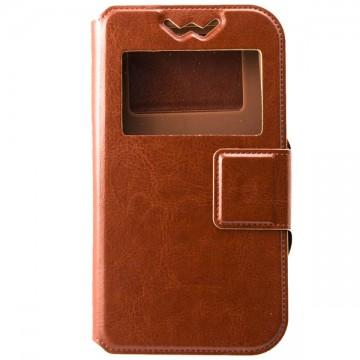 Универсальный чехол-книжка Case слайдер 4.5″ коричневый в Одессе