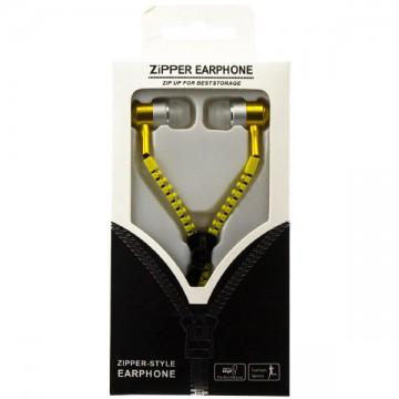Наушники с микрофоном змейка Zipper New yellow в Одессе