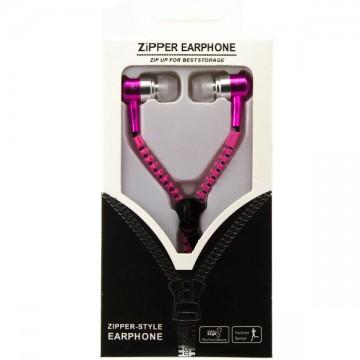 Наушники с микрофоном змейка Zipper New pink в Одессе