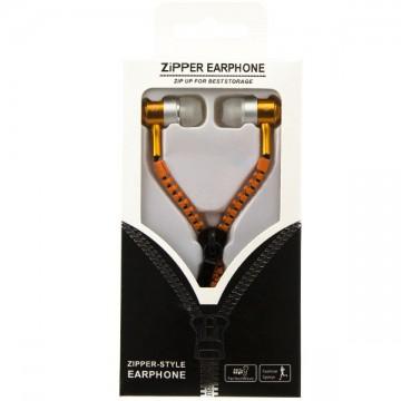 Наушники с микрофоном змейка Zipper New orange в Одессе
