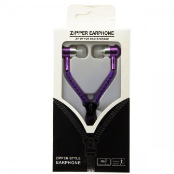 Наушники с микрофоном змейка Zipper New purple в Одессе