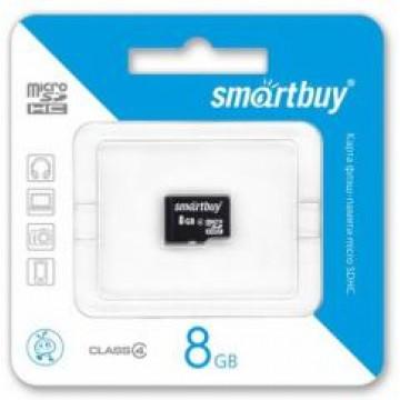 Micro SD 8GB 4 Class SmartBuy без адаптера (SB8GBSDCL4-01) в Одессе
