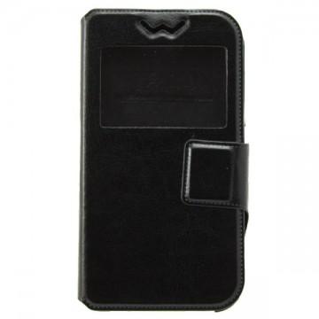 Универсальный чехол-книжка 4.8-5.0 дюймов, силиконовая рамка-магнит черный в Одессе