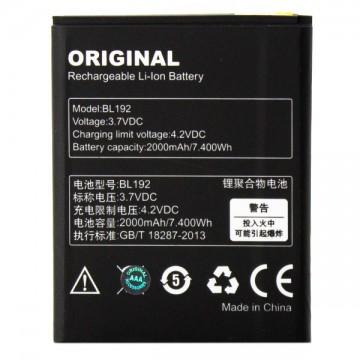 Аккумулятор Lenovo BL192 2000 mAh A680, A526, A590, A529 AAA класс тех.пакет в Одессе