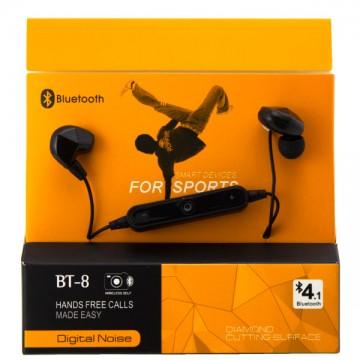Bluetooth наушники с микрофоном BT-8 черные в Одессе