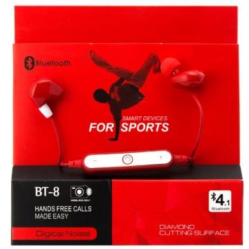 Bluetooth наушники с микрофоном BT-8 красные в Одессе