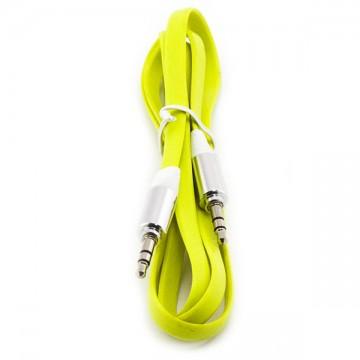 AUX кабель 3.5 плоский c 1 метр желтый в Одессе