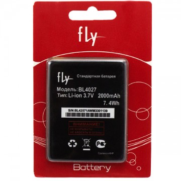 Аккумулятор Fly BL4027 2000 mAh IQ4410 AAA класс блистер в Одессе