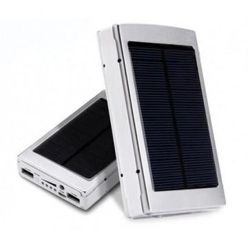 Power Bank Xiaomi 25000 mAh Solar + LED панель серебристый в Одессе