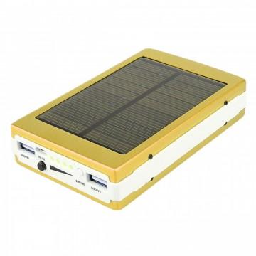 Power Bank Xiaomi 25000 mAh Solar + LED панель золотистый в Одессе