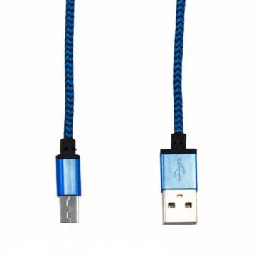 USB кабель Micro тканевый 1003 1m синий в Одессе