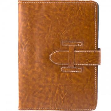 Чехол-книжка универсальный 7 дюймов уголки-ремень коричневый в Одессе