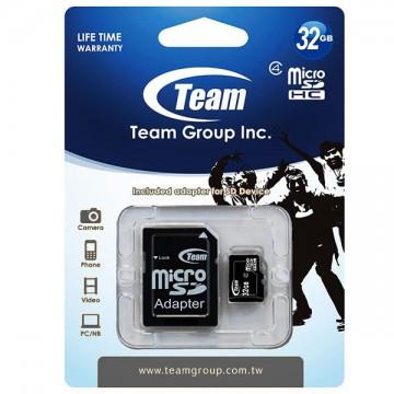 Карта памяти Team 32GB 10 Class MicroSD + SD adapter в Одессе
