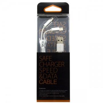 USB шнур Zipper Lightning and Micro USB original charger 1m белый в Одессе