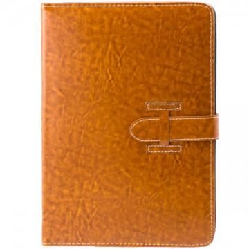 Чехол-книжка универсальный 10 дюймов уголки-ремень коричневый в Одессе