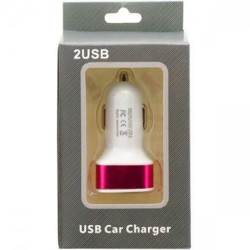 Автомобильное зарядное устройство 2USB 2.1A в коробке pink в Одессе