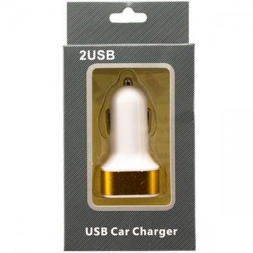 Автомобильное зарядное устройство 2USB 2.1A в коробке gold в Одессе