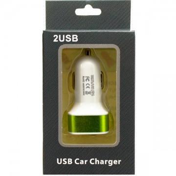 Автомобильное зарядное устройство 2USB 2.1A в коробке green в Одессе