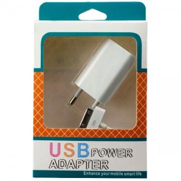 Сетевое зарядное устройство 2in1 1USB 1.0A Apple 30-pin white в Одессе