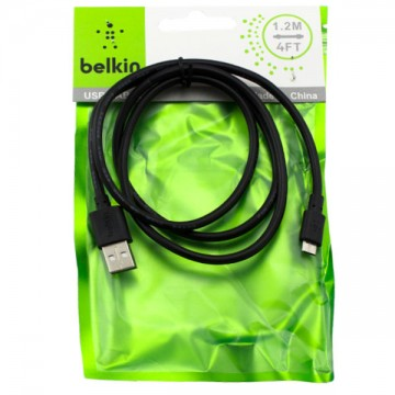 USB кабель Belkin micro USB 1m тех.пакет черный в Одессе