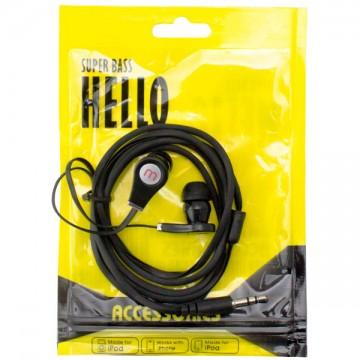 Наушники Super Bass HELLO в пакете черные в Одессе