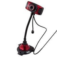 Веб-камера с подсветкой Iyigle черно-красная