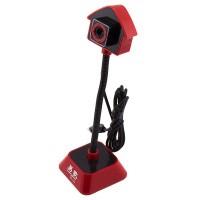 Веб-камера Iyigle BG-155 черно-красная