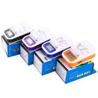 Сетевое зарядное устройство Краб LCD + USB blue