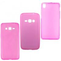 Чехол силиконовый цветной LG G3 Mini розовый