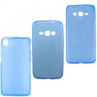 Чехол силиконовый цветной LG G3 Mini синий