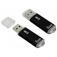USB Флешка 8GB Smartbuy V-Cut Black