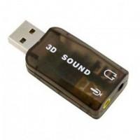 Звуковая карта USB-3.5 mini jack 5in1 black