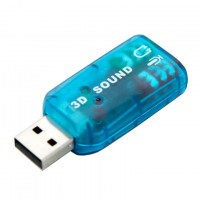 Звуковая карта USB-3.5 mini jack 5in1 blue